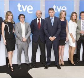 Equipo del Canal 24h de TVE.