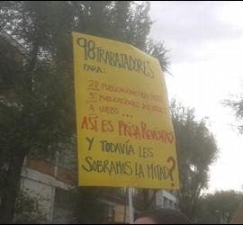 Protestas de los trabajadores de PRISA Revistas.