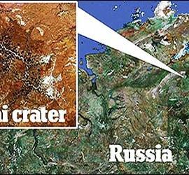 El crater Popigai.