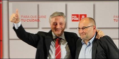 José Blanco con Francisco Rodríguez.