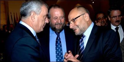 Pachi Vázquez, López Vázquez y Francisco Rodríguez.