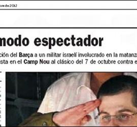 Captura de la información de El País sobre la Shalit en el Barcelona-Madrid