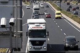 Tráfico, carretera, operación salida.