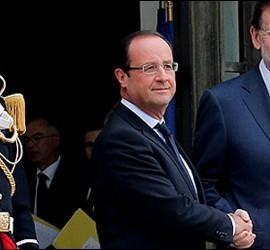 Hollande y Rajoy.