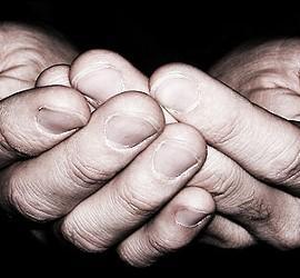 Manos, caridad, humanidad y ternura.