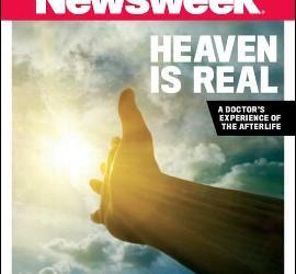 Portada de Newsweek titulada 'El cielo existe'.