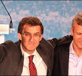 Alberto Núñez Feijóo y Alfonso Rueda.