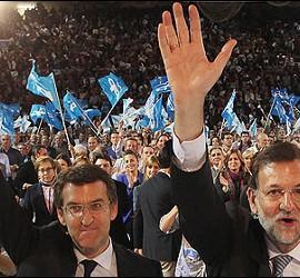 Alberto Núñez Feijóo y Mariano Rajoy.