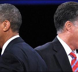 Barack Obama y Mitt Romney.