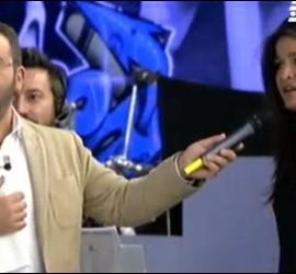 Captura de Aída Nízar y Jorge Javier Vázquez en 'Sálvame'.