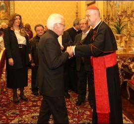 Bertone y el Padre Ángel
