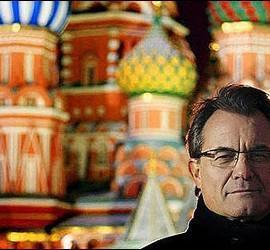Artur Mas en la Plaza Roja de Moscú.