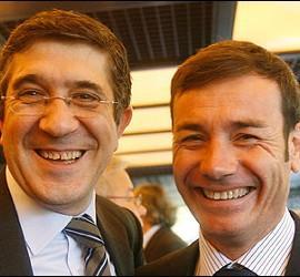 Patxi López con Tomás Gómez.