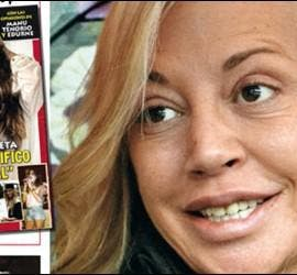Portada de ¡QMD! sobre el nuevo rostro de Belén Esteban.