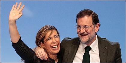 Alicia Sánchez Camacho y Rajoy.