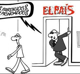 Los despidos de periodistas en 'El País', retocando a Forges.