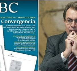Portada de ABC 12-11-2012 y Artur Mas.