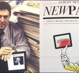 Albert Montagut y la portada de Newpaper