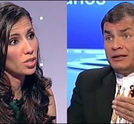 Ana Pastor y Rafael Correa.