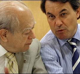 Jordi Pujol con Artur Mas.