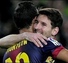 Messi con Montoya.
