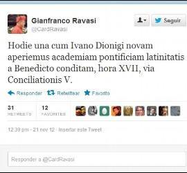 El tuit en latín del cardenal Ravasi