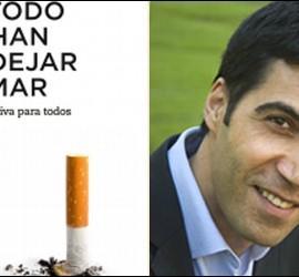 Portada del libro 'El método Rowshan para dejar de fumar' y su autor, Arthur Rowshan