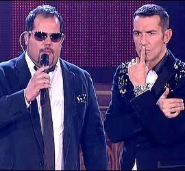 Ruimán y Jesús Vázquez en un momento de 'La Voz'.