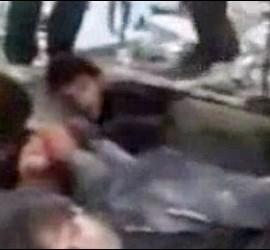 Prisioneros desarmados ejecutados por los rebeldes sirios.