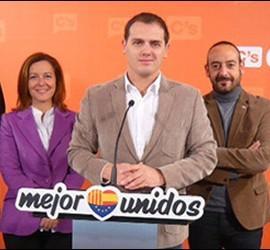 Matías Alonso, Carina Mejías, Albert Rivera y Jordi Cañas.