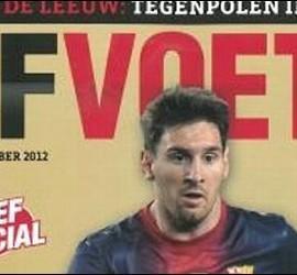 Messi en la portada de 'Elf Voetbal Magazine'.