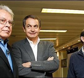 Felipe González, José Luis Rodríguez Zapatero y Alfredo Pérez Rubalcaba.