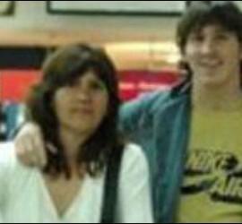 Marisol con su hermano Leo Messi.