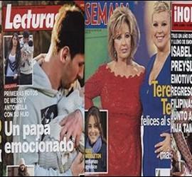 Portadas de revistas protagonizadas por Ana Milán, Messi, María Teresa Campos e Isabel Preysler.