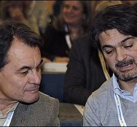 Artur Mas con Oriol Pujol.