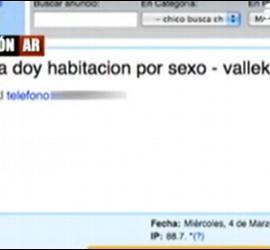 Anuncio en el que se ofrece habitación por sexo visto en el programa de Ana Rosa