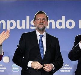 Cospedal, Rajoy y Arenas.