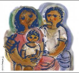 Sagrada familia de Mino Cerezo