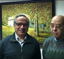 José Luis Pérez con el actual moderador general de Adsis
