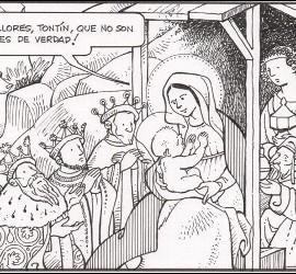 Los Magos visitan a Jesús