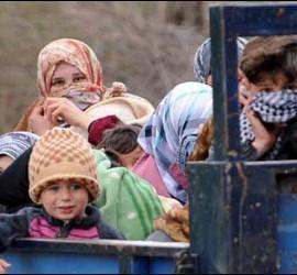 Refugiados sirios saliendo de Jordania