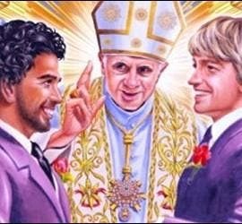 El Papa casando a dos gays en Nueva Zelanda