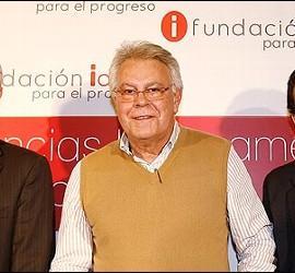 Jesús Caldera, Felipe González y Carlos Mulas.