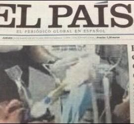 Captura de la portada retirada en El País 24-1-2013