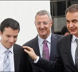 Carlos Mulas, Jesús Caldera y José Luuis Rodríguez Zapatero.