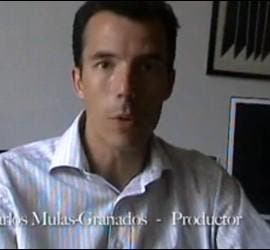 Carlos Mulas. Captura del Making of de Buen Viaje.