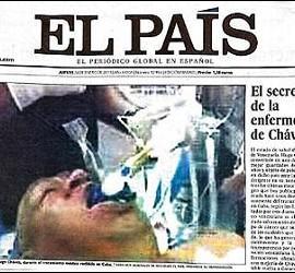 La falsa foto de Hugo Chávez en la portada de 'El País'.