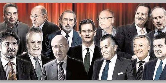 Resultado de imagen de imágenes de los corruptos en españa