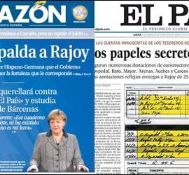 Portada de La Razón 5-2-2013 y El País con el 'Barcenasgate'