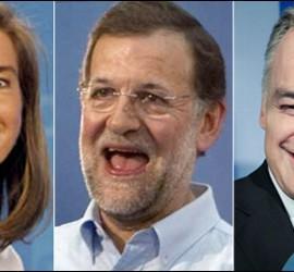 Ana Mato, Mariano Rajoy y Esteban González Pons.